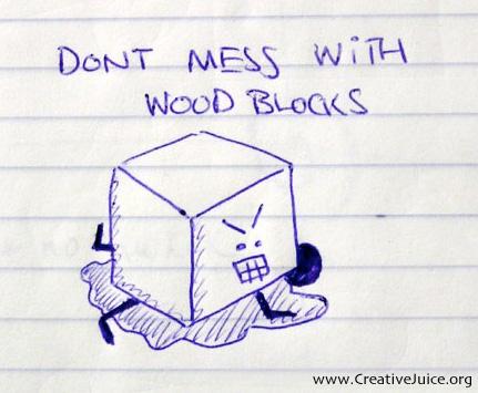 Don't mess - Wood Blocks