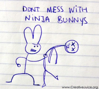 don't mess with ninja bunnies